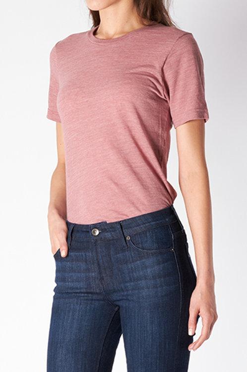 Mauve Cotton Slub T-Shirt