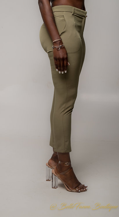 Corporate Olive Pants