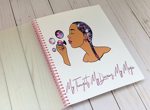 Teenaged Thoughts - Handcrafted Girls Journal (Black Girl Magic Edition)