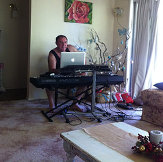 Working on a new song