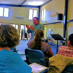 Conducting a music workshop