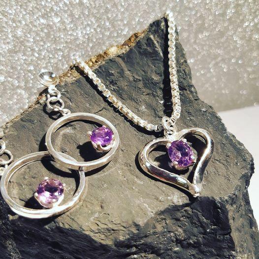 Smykkesett i sølv