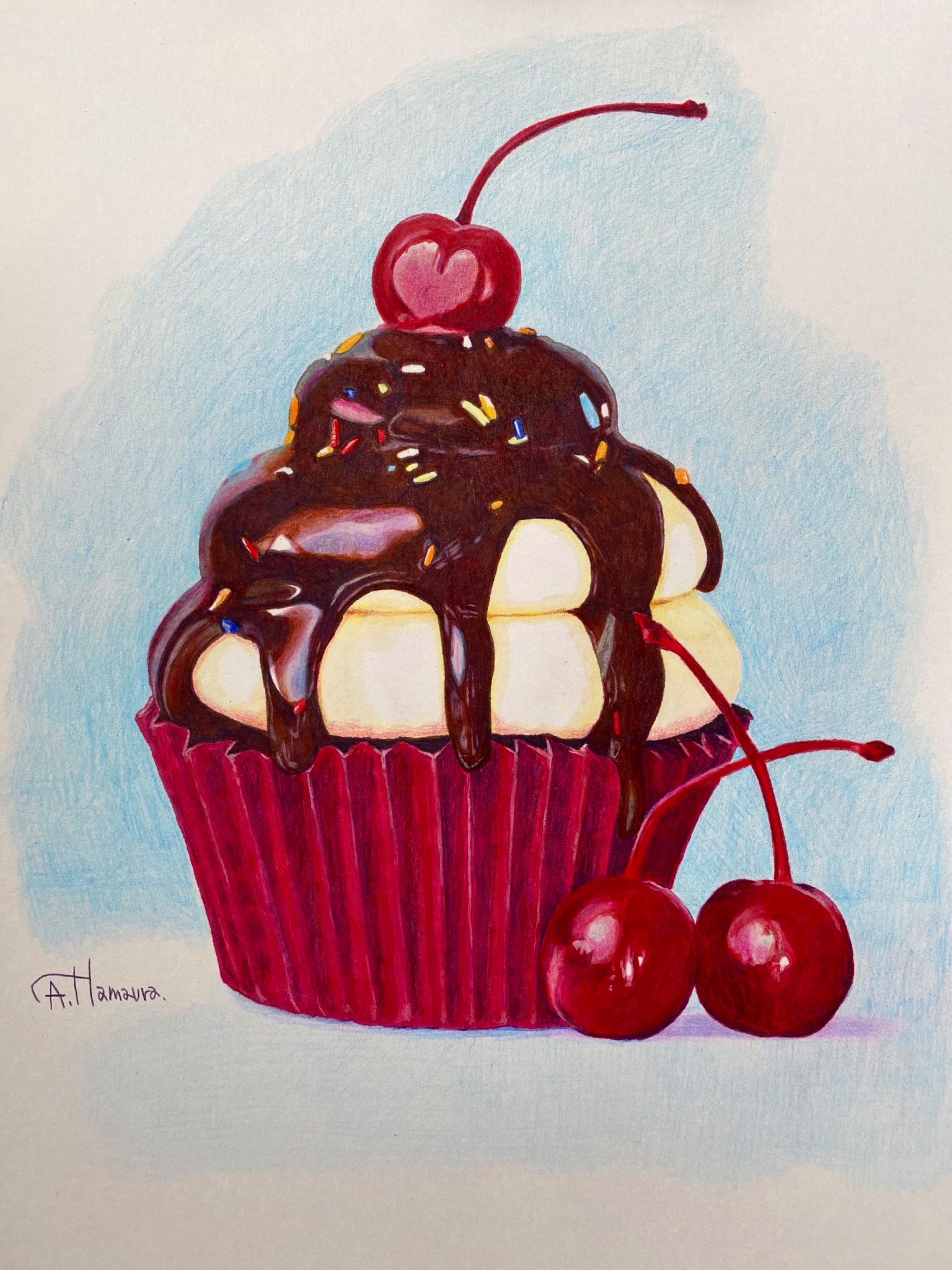 カップケーキ  (sold)