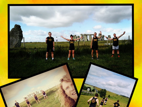 Stonehenge Striders do the Summer Solstice 2020