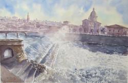 Cascatelle sull'Arno