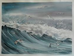 mare di gabbiani