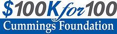 $100K for 100 Cummigs Foundation Logo