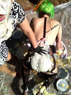 Messy, messy sissyplay