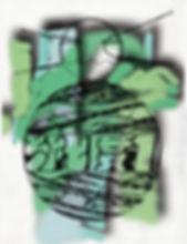 Alex Besikian a.k.a Lex (de Kalhex), untitled,Graphite on paper + Digital painting, 24 x 32 cm|2019