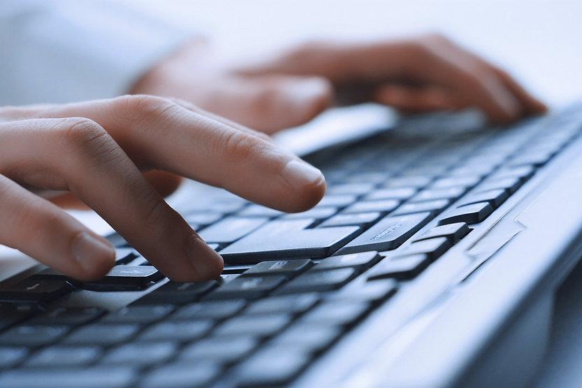 Man Hands On Keyboard
