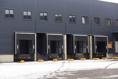 A distribution warehouse with cargo door