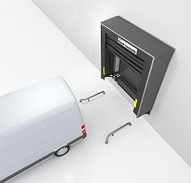 loading bay inflatabkle odck shelter vehicle reversing