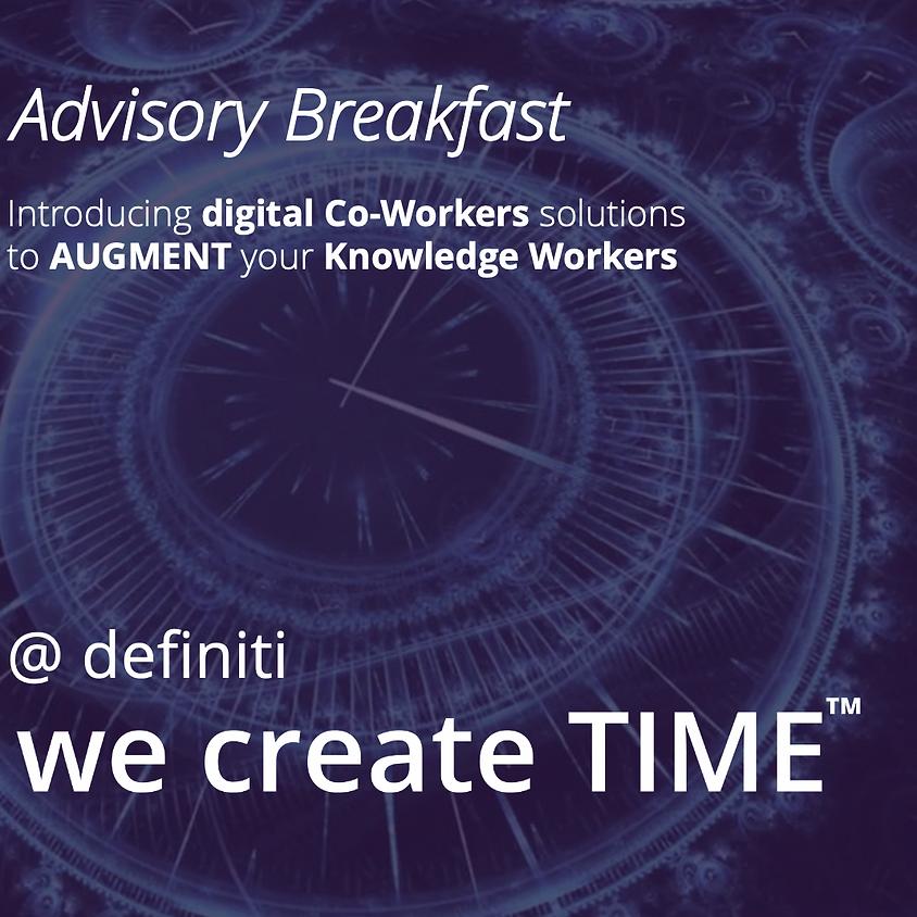 Robotic Digital Co-Workers Advisory Briefing Breakfast