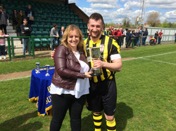 Lorraine with the winning captain