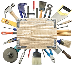 This a collage made out of tools