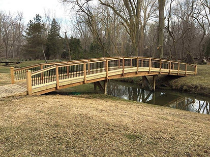 This is a bridge built by a carpenter.
