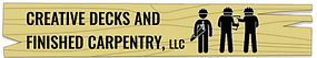The logo for Creative Decks ad Finished Carpentry, LLC