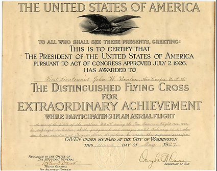 Distinguished Flying Cross 1926 Black Ea