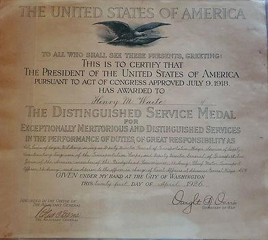 Black eagle Distinguished Service Medal
