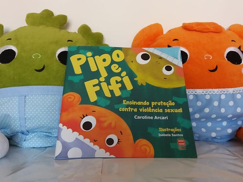 CASAL PIPO E FIFI + Livro Pipo e Fifi