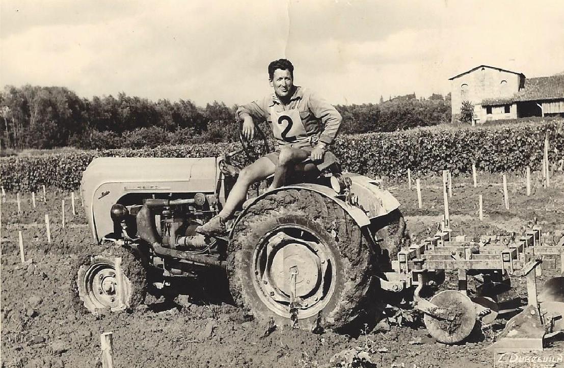 Louis Haverlan sur son tracteur.