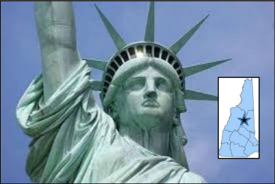 Statue of Liberty and the State of New Hampshire