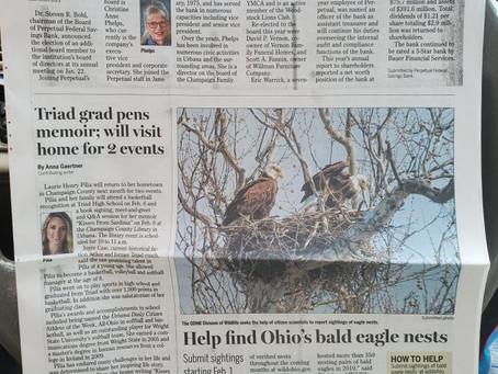 Look what's on the Front Page of the Urbana Daily Citizen!
