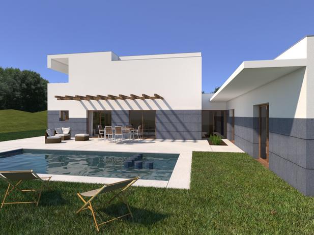 Proyecto de Vivienda Unifamiliar en dos niveles para inmobiliaria
