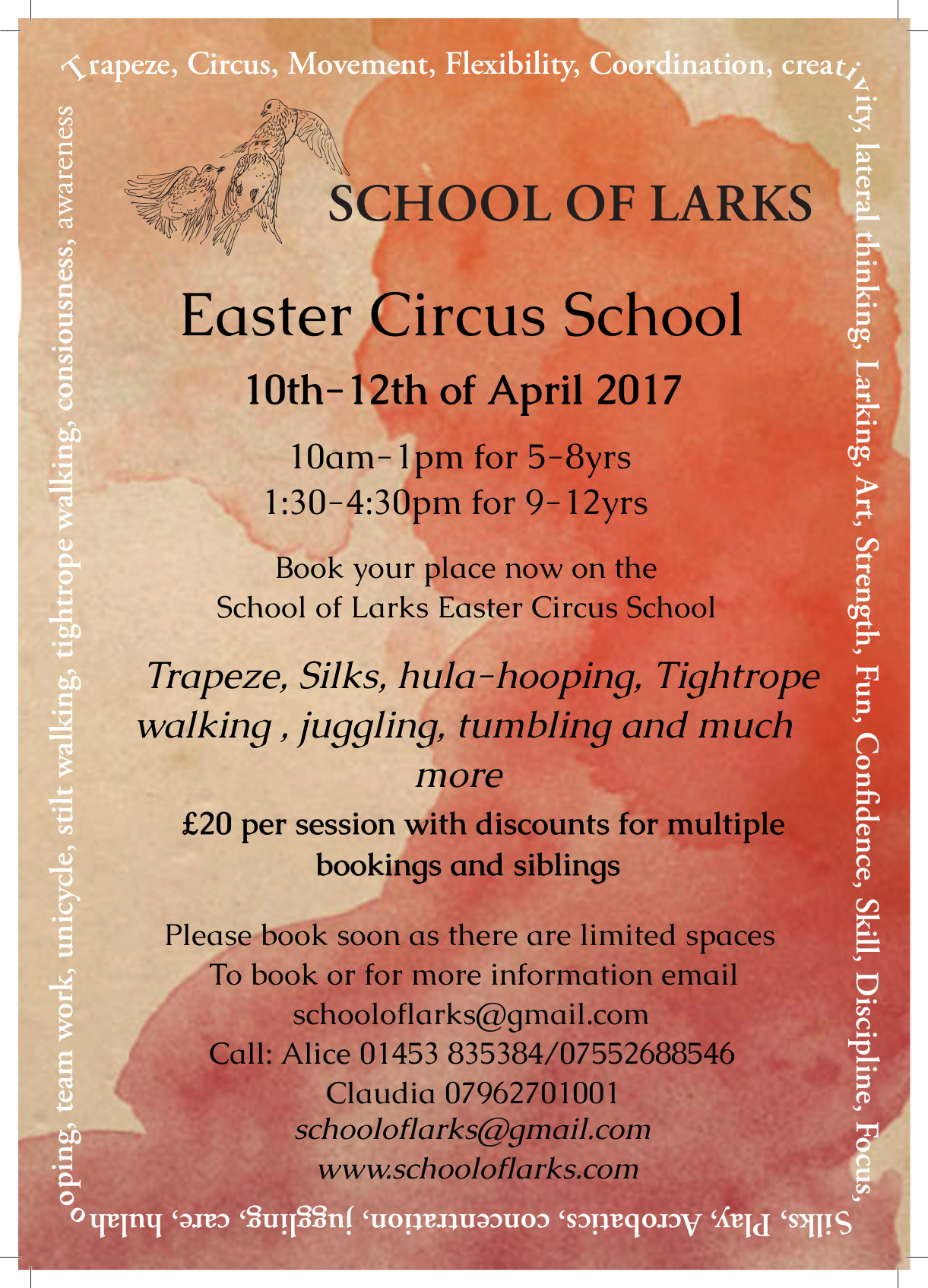 School of larks Easter School 2017