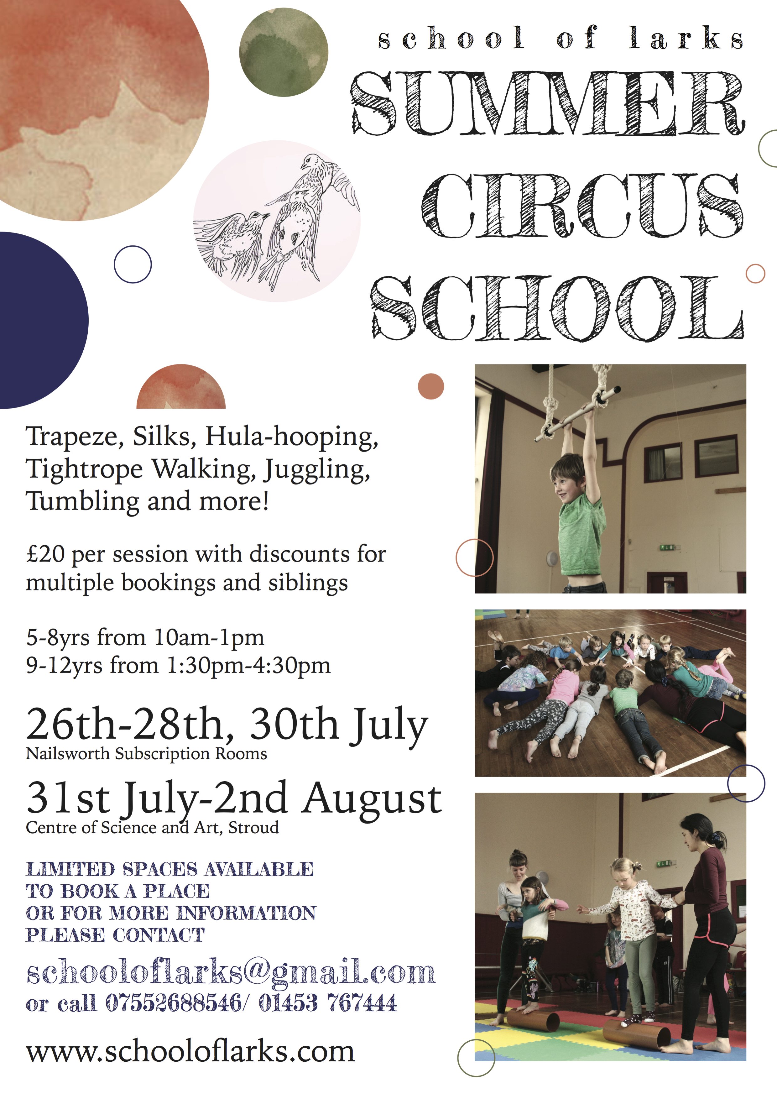 School of Larks Summer school 2017