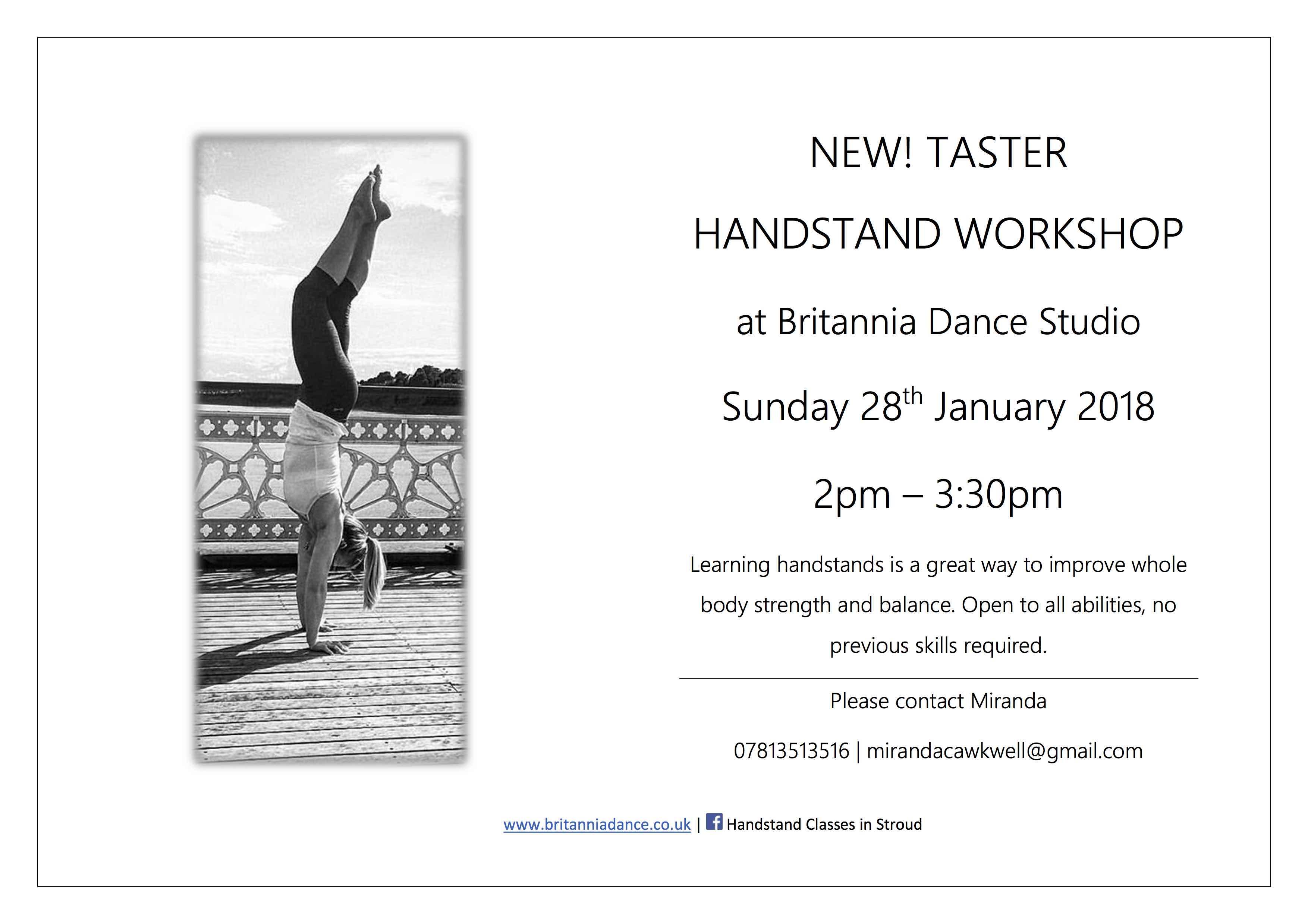 Miranda Handstand Workshop 28th Jan 2018