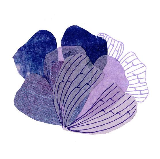 Petal Print - Purple