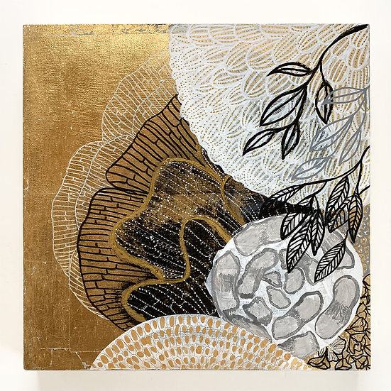 Mixed Media Gold Foliage