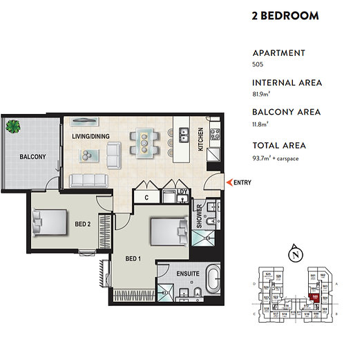 UNIT 505-PAGEWOOD GREEN – DAHLIA - 8 Studio Drive, Eastgardens, NSW 2036