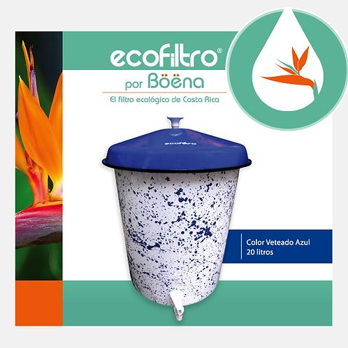 Ecofiltro - Color Veteado Azul con Tapa Azul