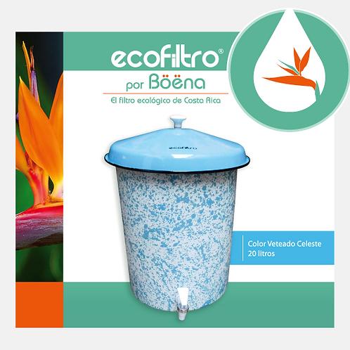 Ecofiltro - Color Veteado Celeste con Tapa Celeste