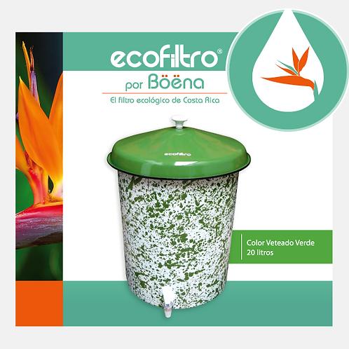 Ecofiltro - Color Veteado Verde con Tapa Verde