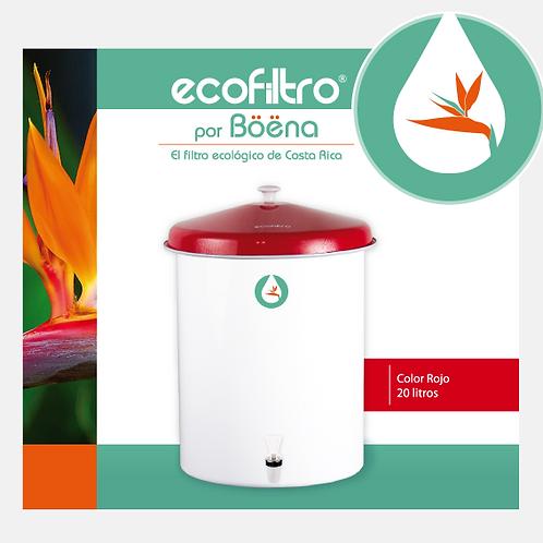 Ecofiltro - Color Blanco con Tapa Roja