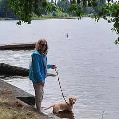 Heidi and Marlin at the lake
