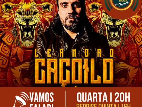 Vamos Falar! traz nesta quarta-feira o vocal versátil de Leandro Caçoilo