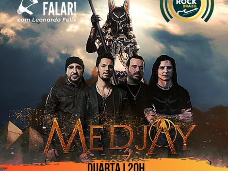 Medjay mostra sua mistura de heavy metal e cultura egípcia no Vamos Falar!