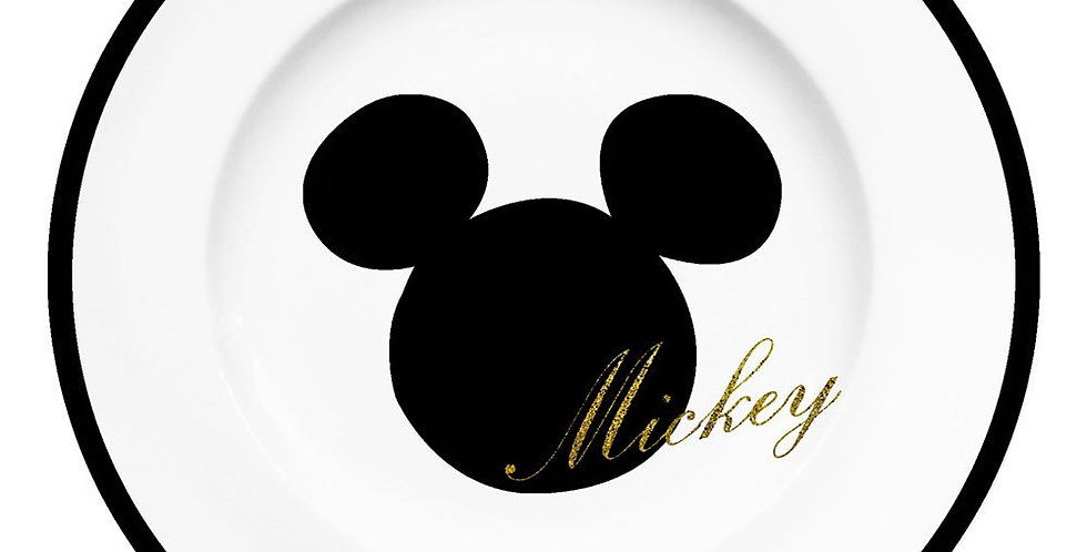 Assiette à dessert - Mickey Glitter
