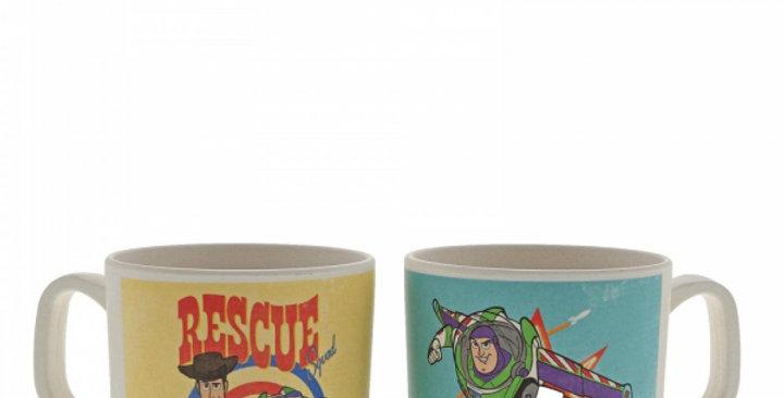 Set de 2 mugs en Bambou - Buzz et Woody