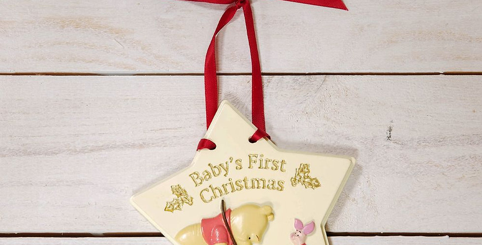 Plaque murale - Baby's First Christmas