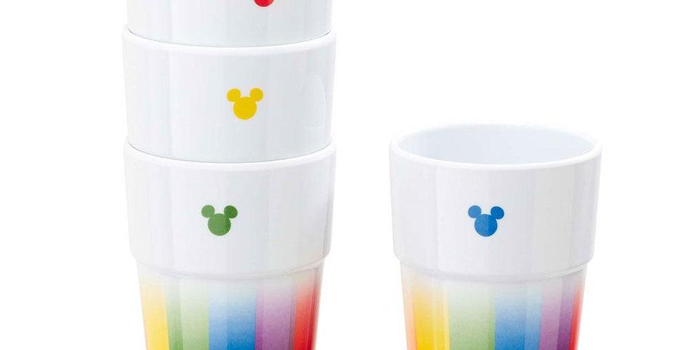 Set de 4 gobelets empilables - Mickey Rainbow