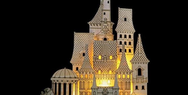 Château en bois lumineux - Belle
