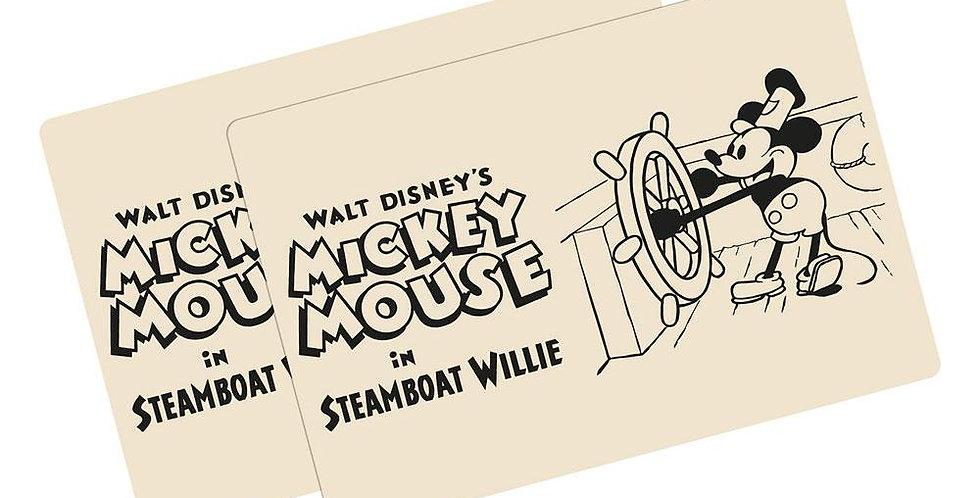 Lot de deux sets de table - Steamboat Willie