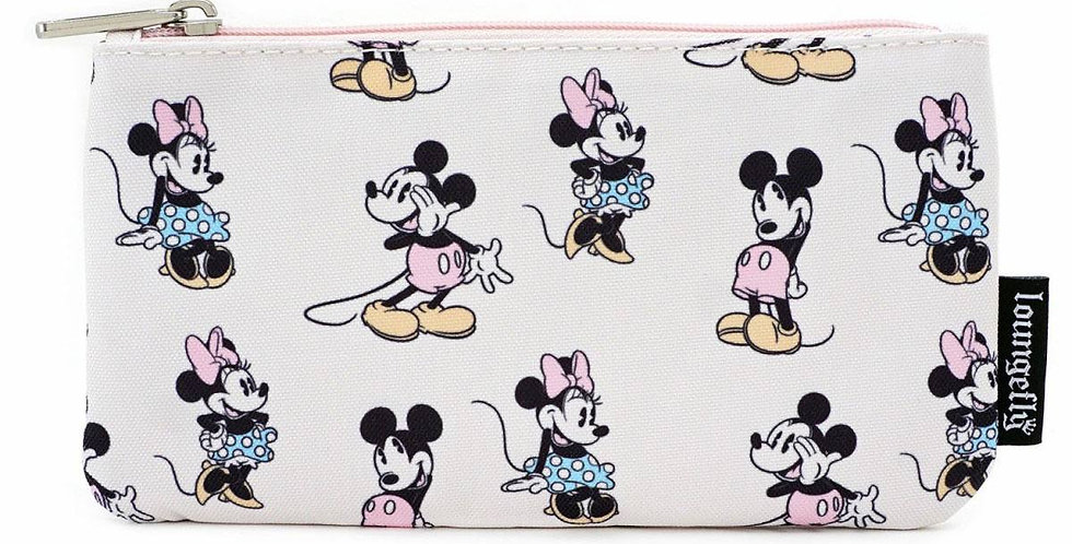 Loungefly - Pochette zippée Mickey & Minnie