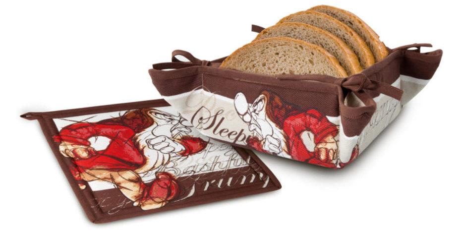 Ensemble Panier à pain et sous-plat - Grincheux