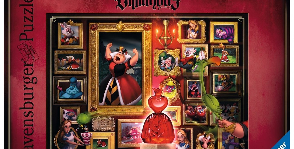 Puzzle 1000 pièces -Villainous Queen of Hearts (Alice)